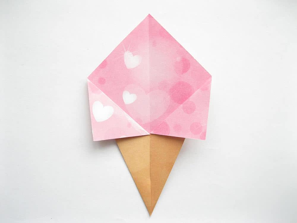 Мороженое оригами шаг 5