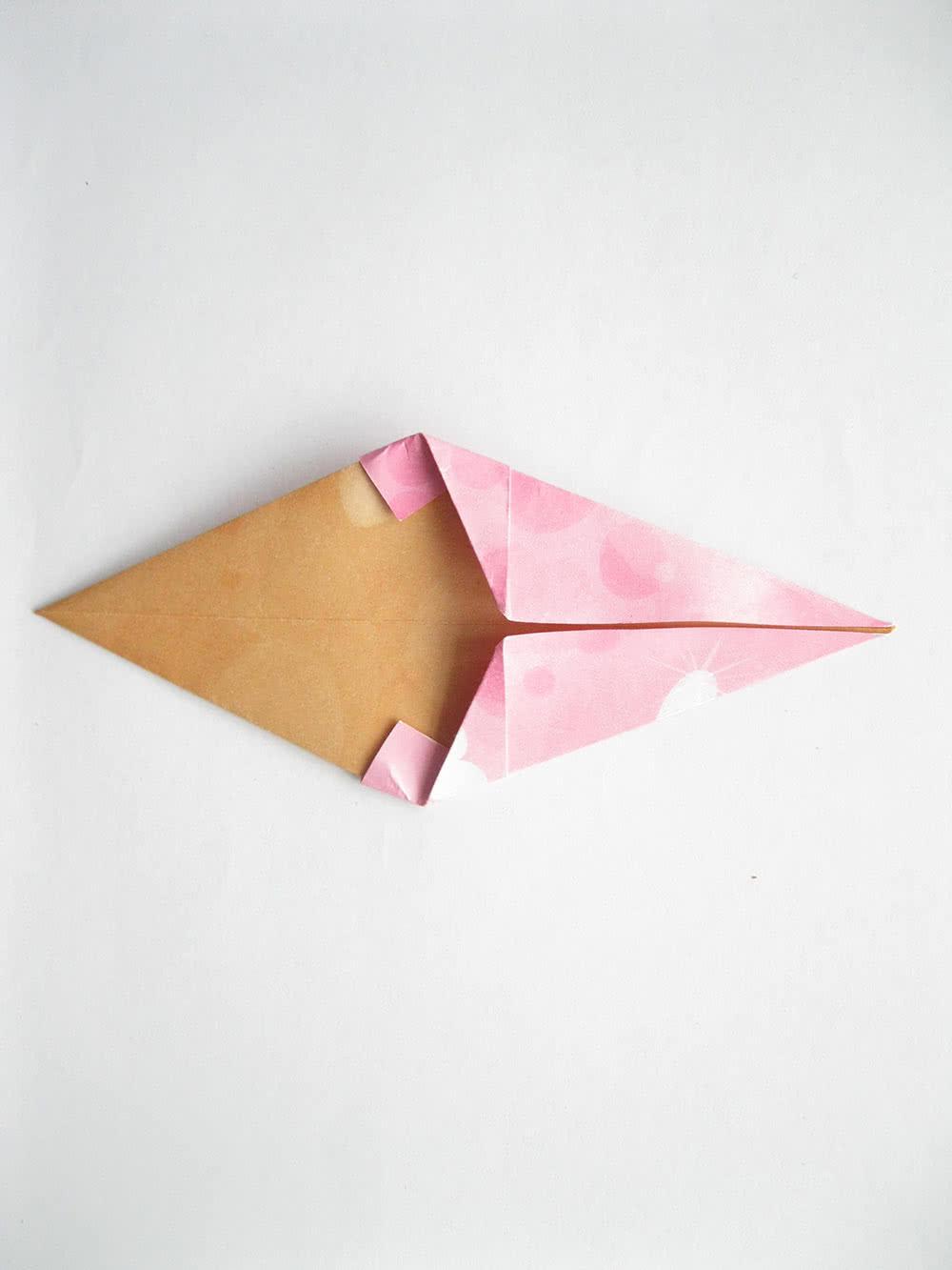 Мороженое оригами шаг 7