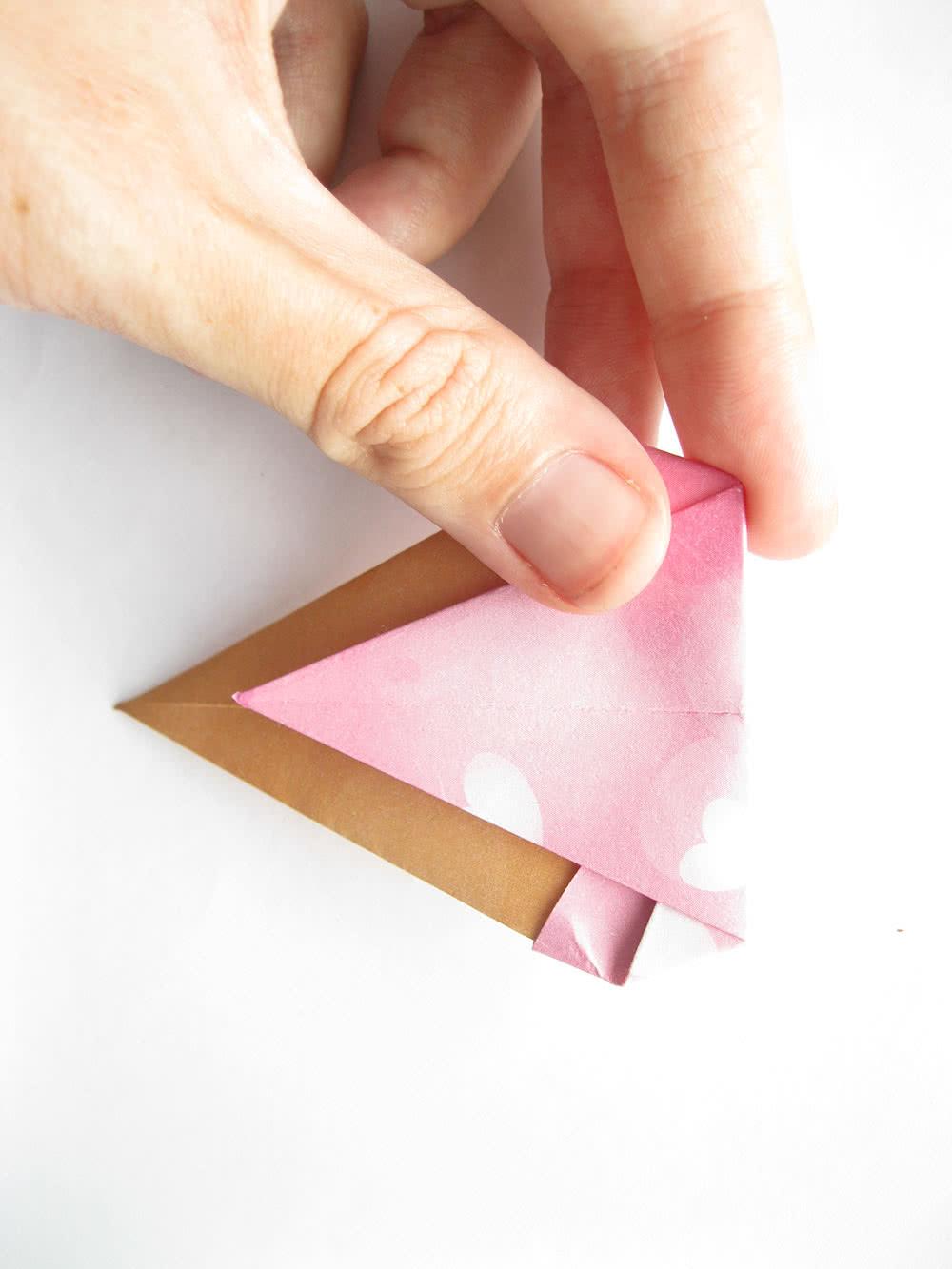 Мороженое оригами шаг 8