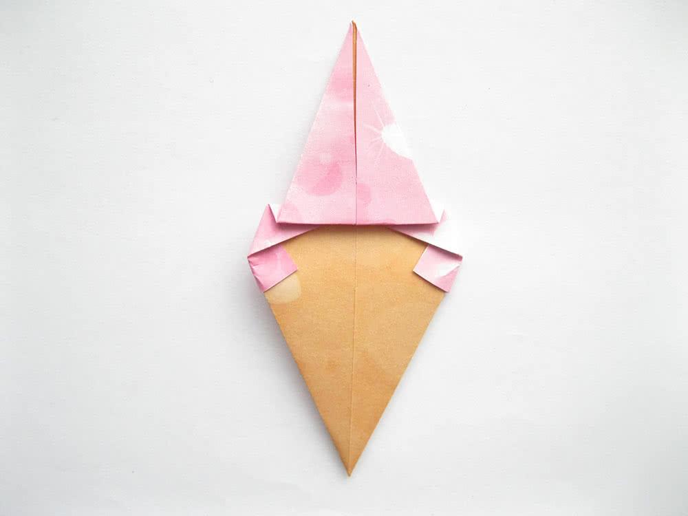Мороженое оригами шаг 9