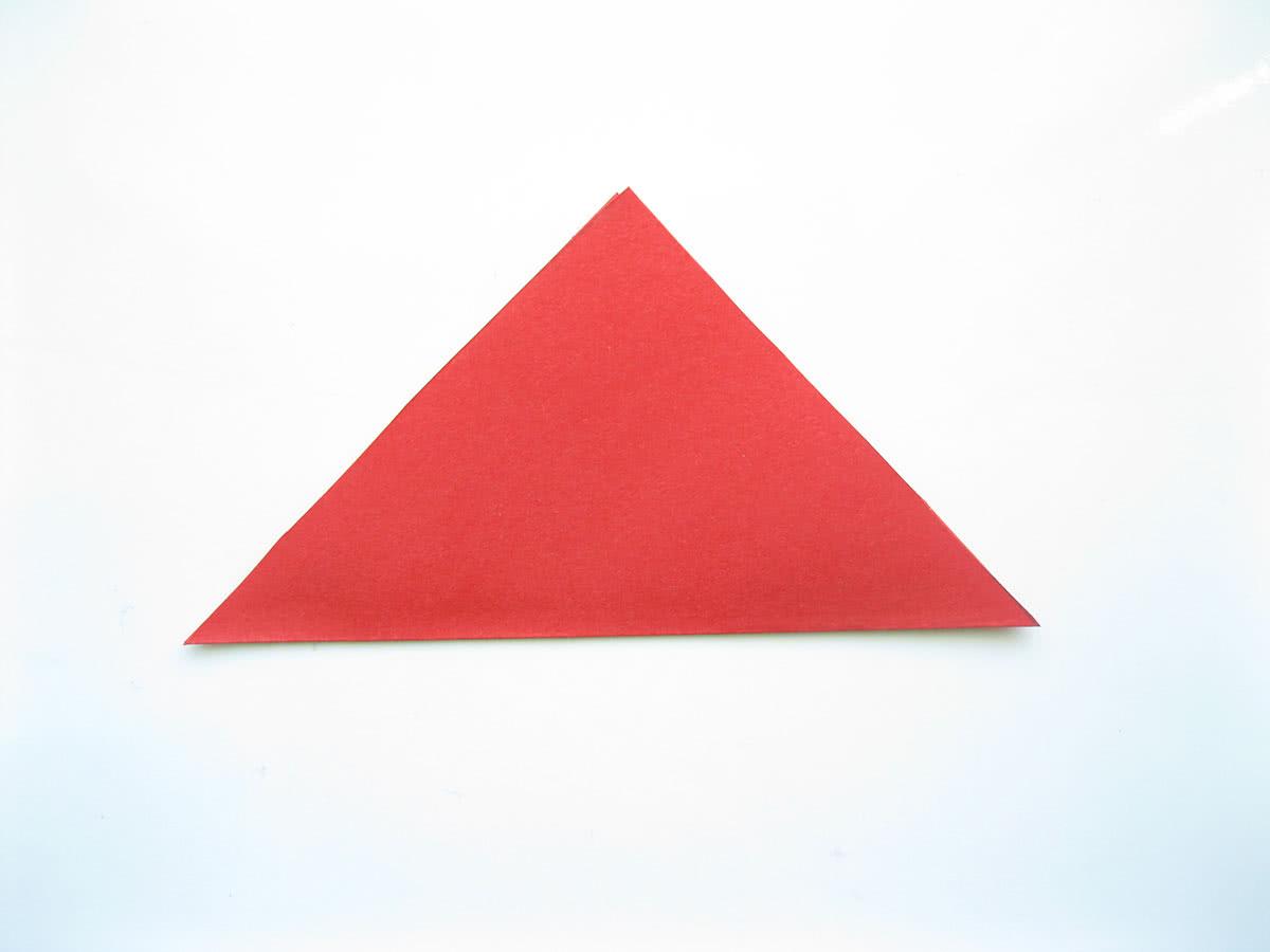 Оригами тюльпан шаг1