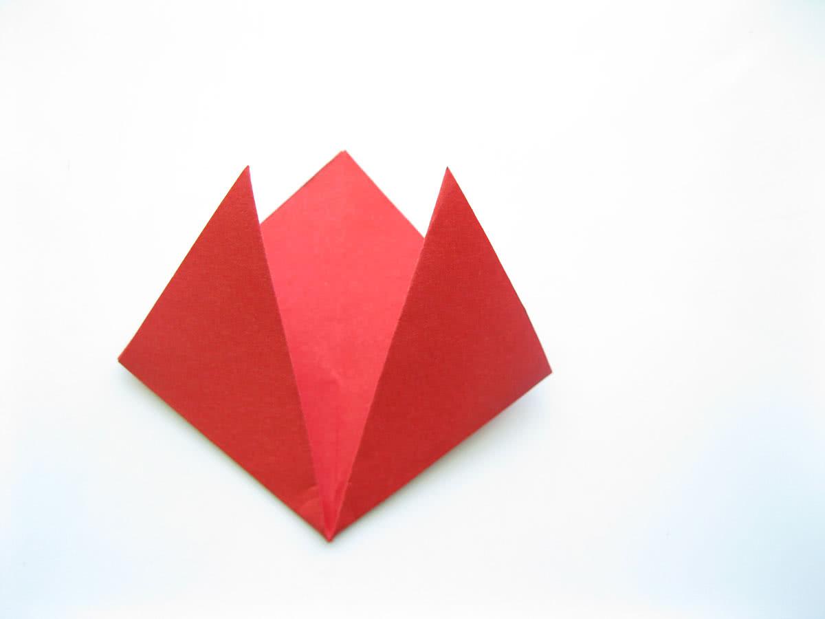 Оригами тюльпан шаг4