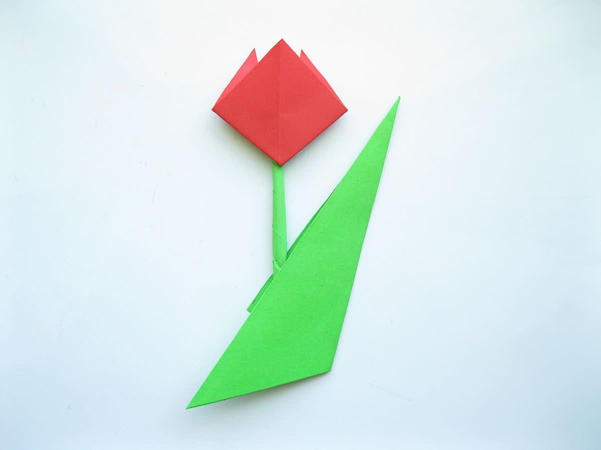 Оригами тюльпан шаг7