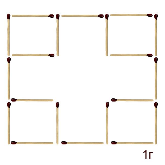 Решение головоломки из спичек