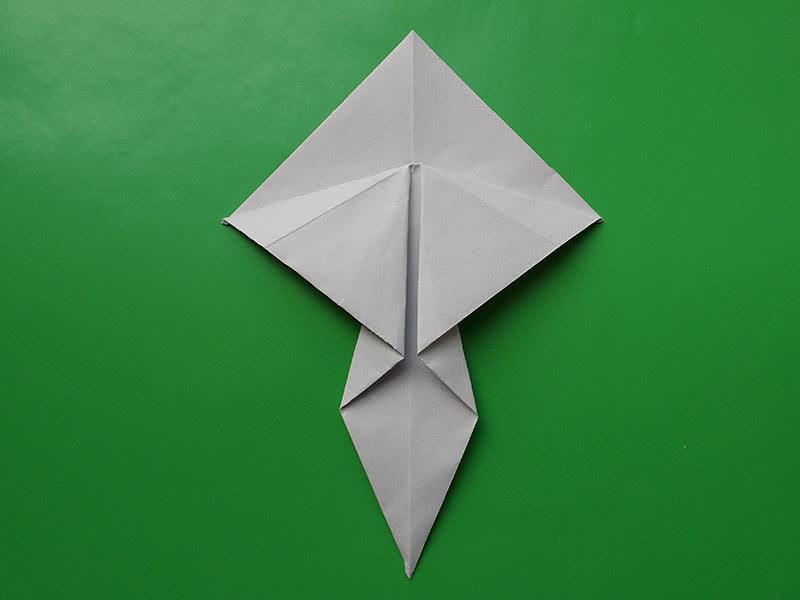 Гриб оригами из бумаги фото