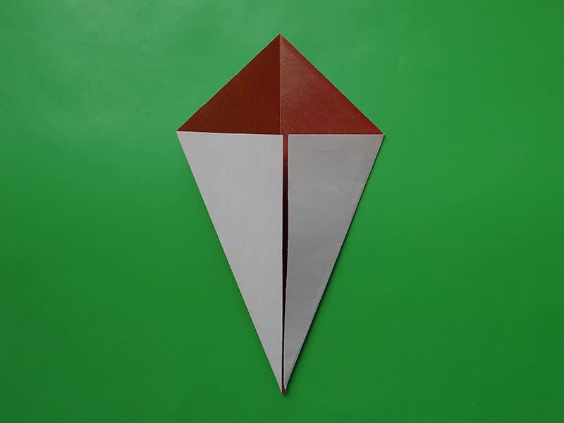 Гриб оригами шаг 2