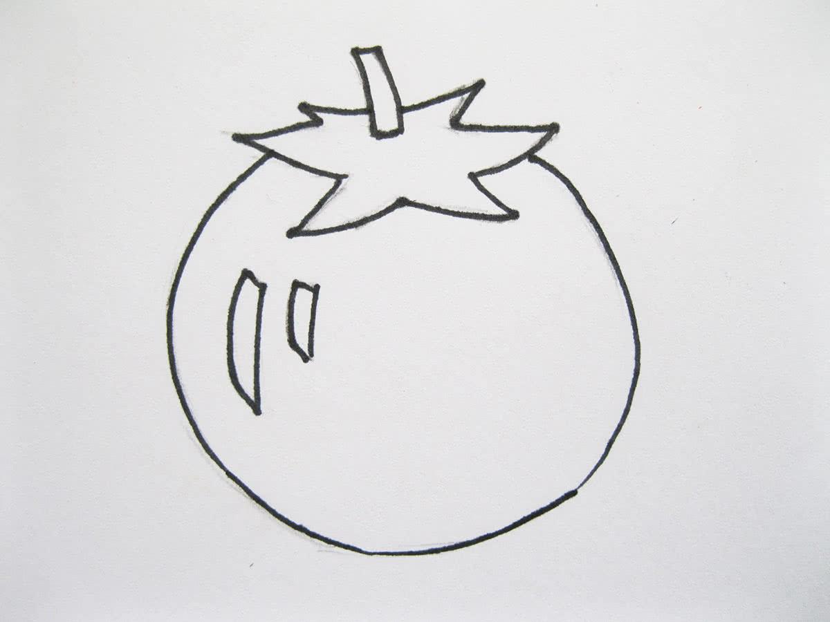 Рисунок помидора