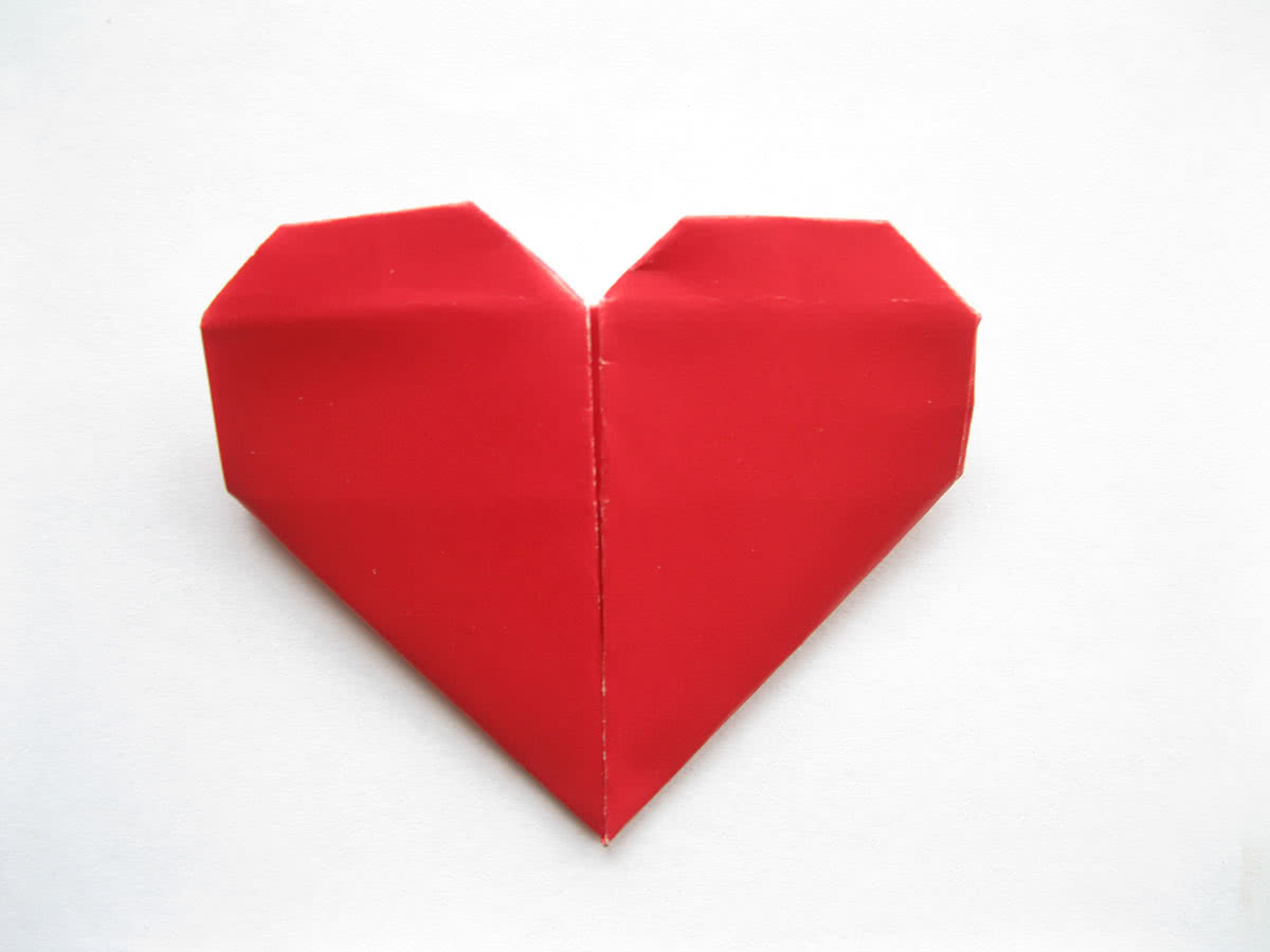Оригами сердце инструкция фото