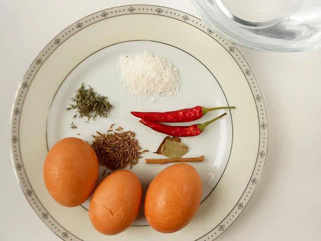 Продукты для пряных яиц