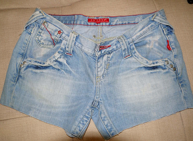 Шорты из старых джинсов фото