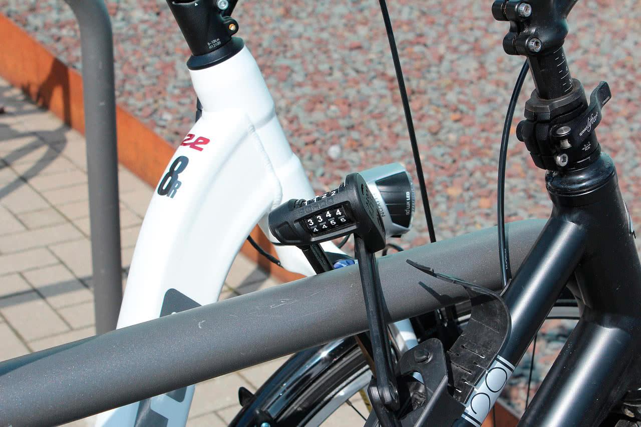Открыть велосипедный кодовый замок