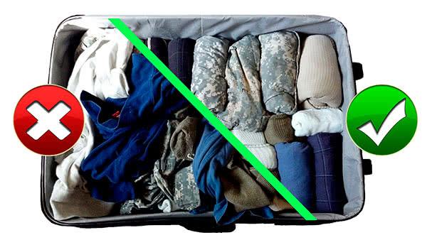 Как компактно сложить вещи в чемодан в самолёт