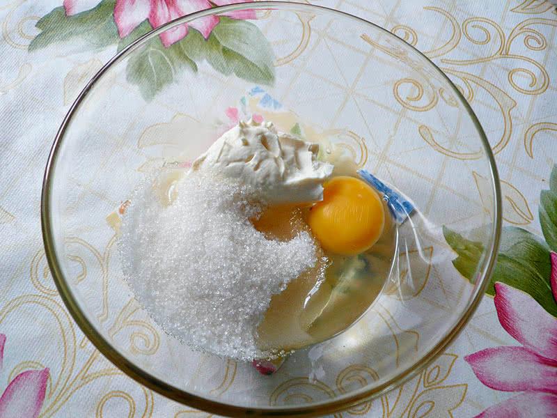 Вишнёвый пирог этап 1