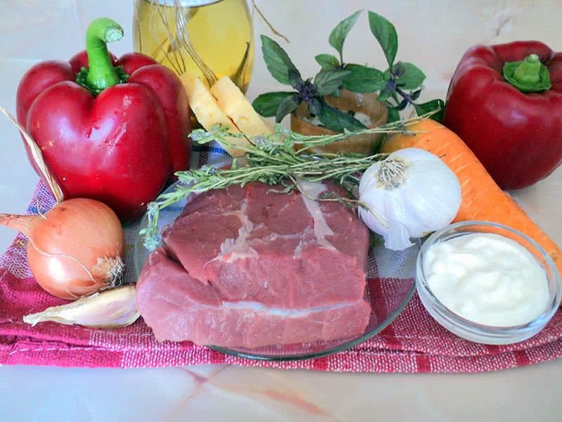 Ингредиенты для фаршированного перца