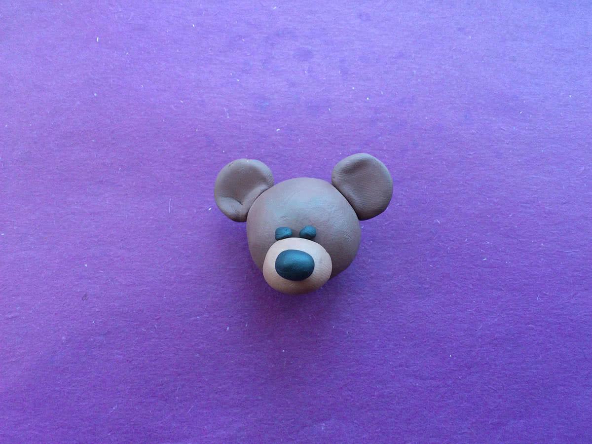 Картинки мишки из пластилина