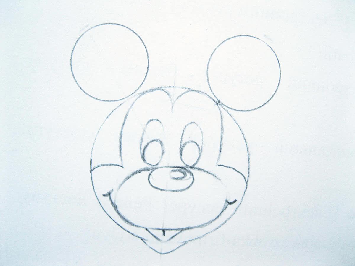 Микимаус рисунки карандашом поэтапно