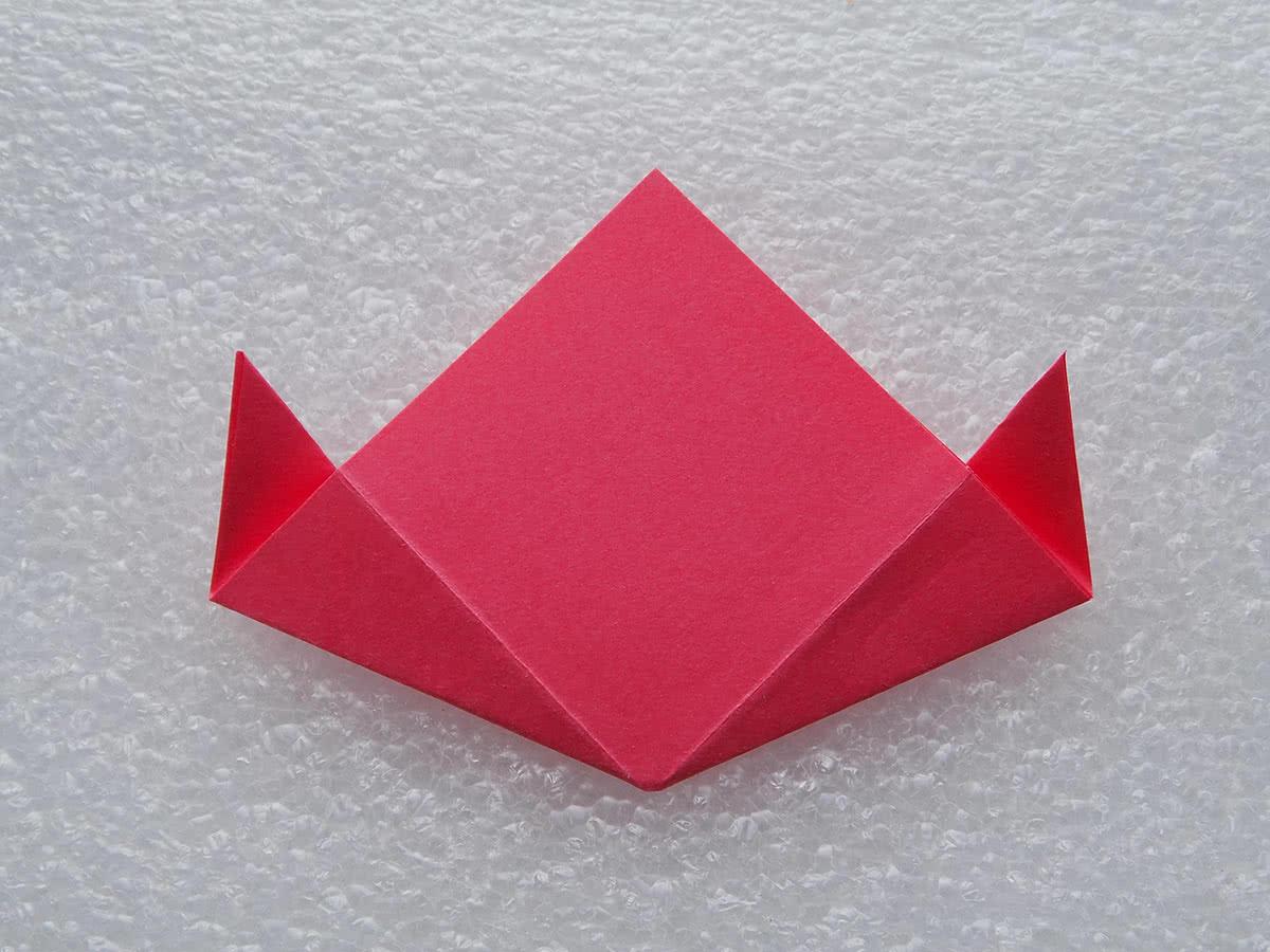 оригами цветок шаг 10