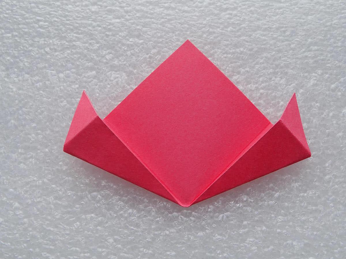 оригами цветок шаг 11