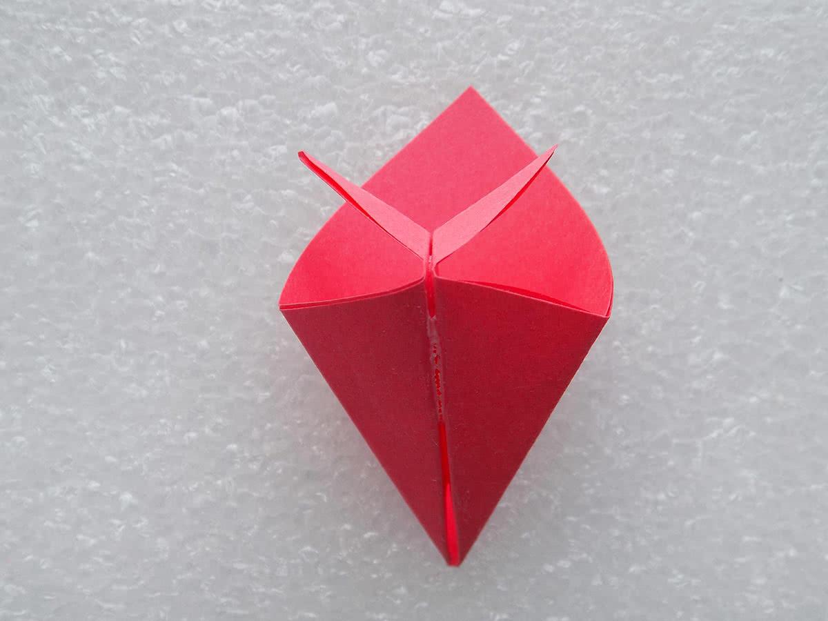 оригами цветок шаг 13