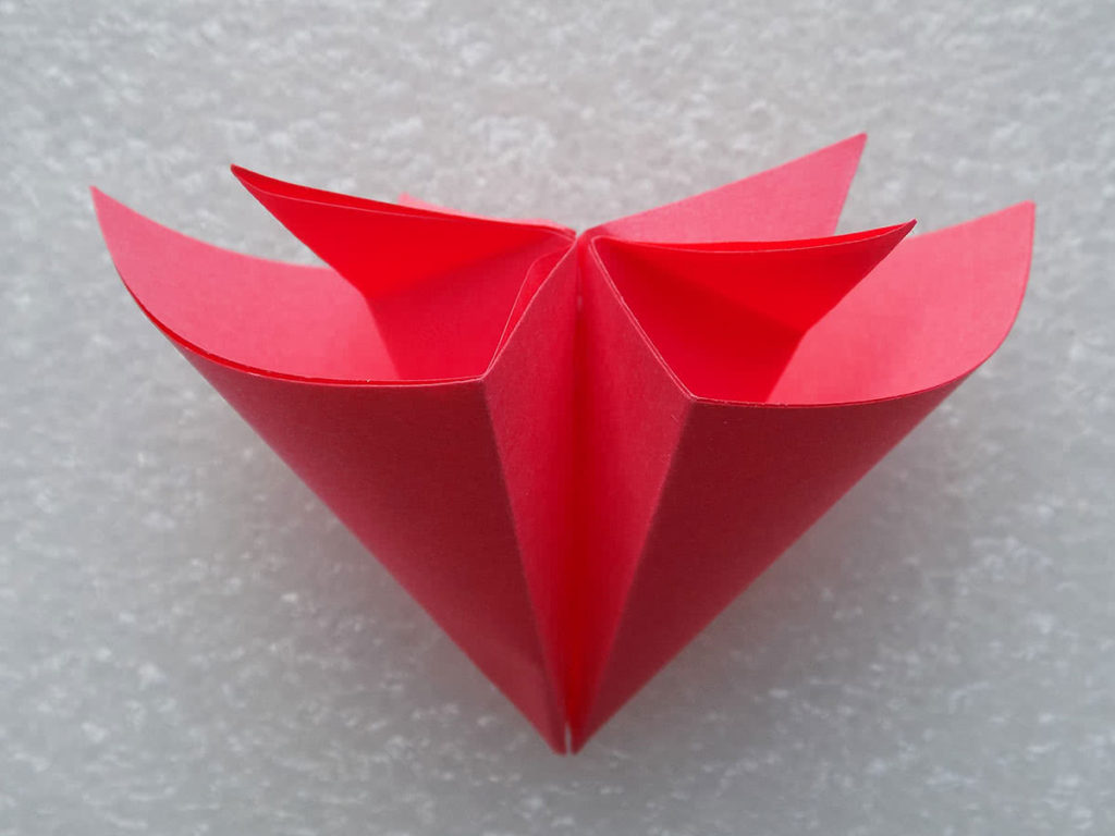 оригами цветок шаг 16