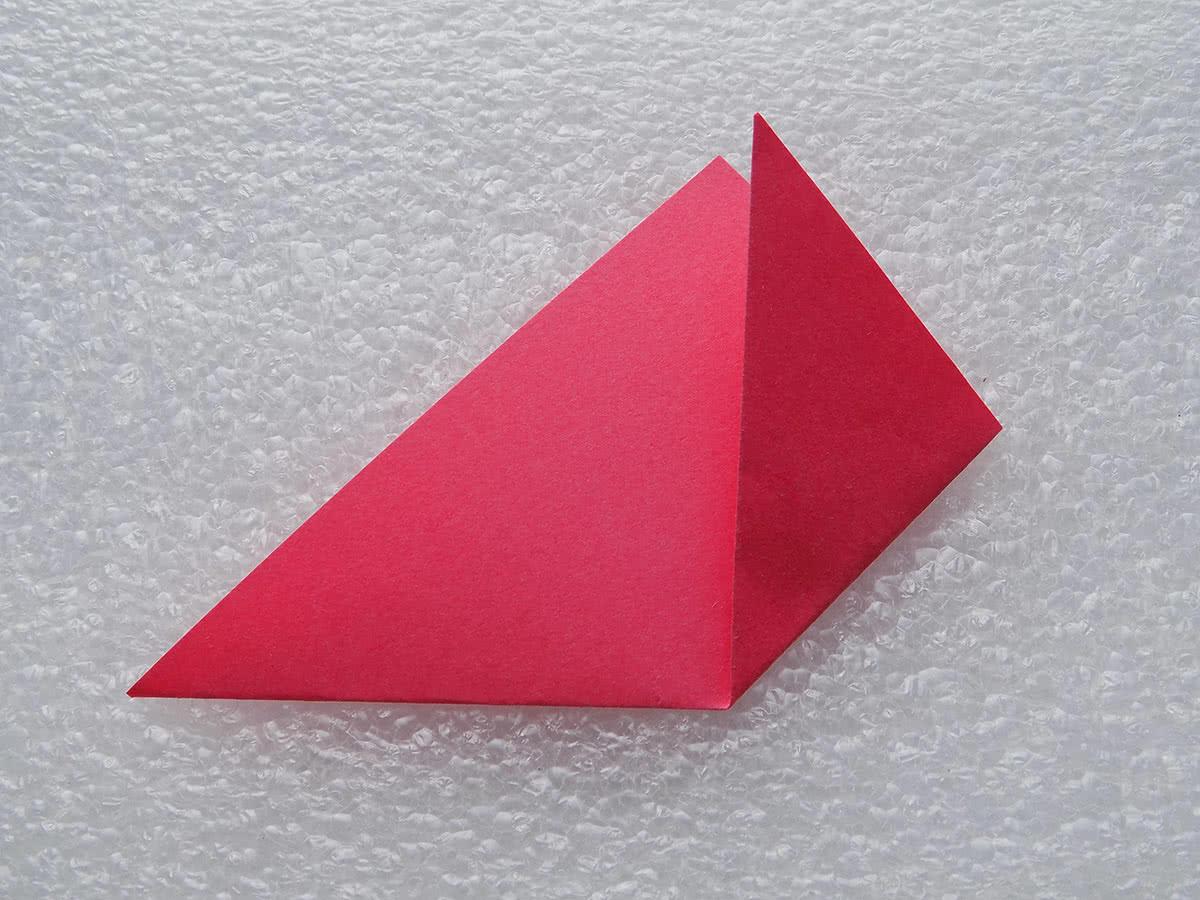 Оригами цветок шаг 2