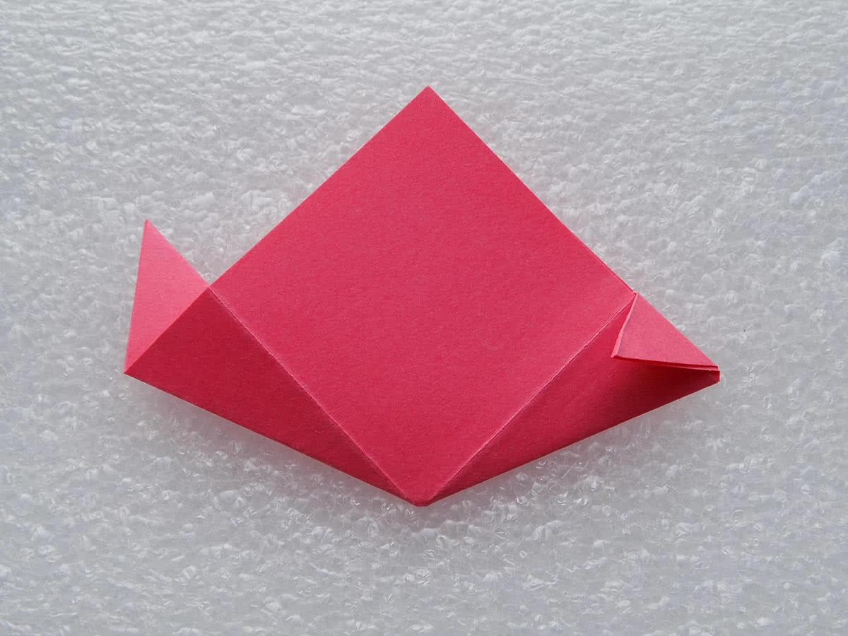 оригами цветок шаг 8