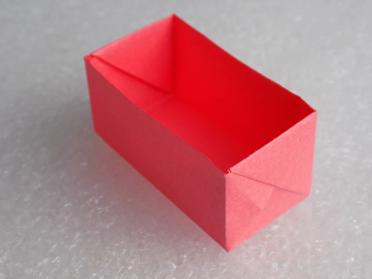 оригами коробочка образец