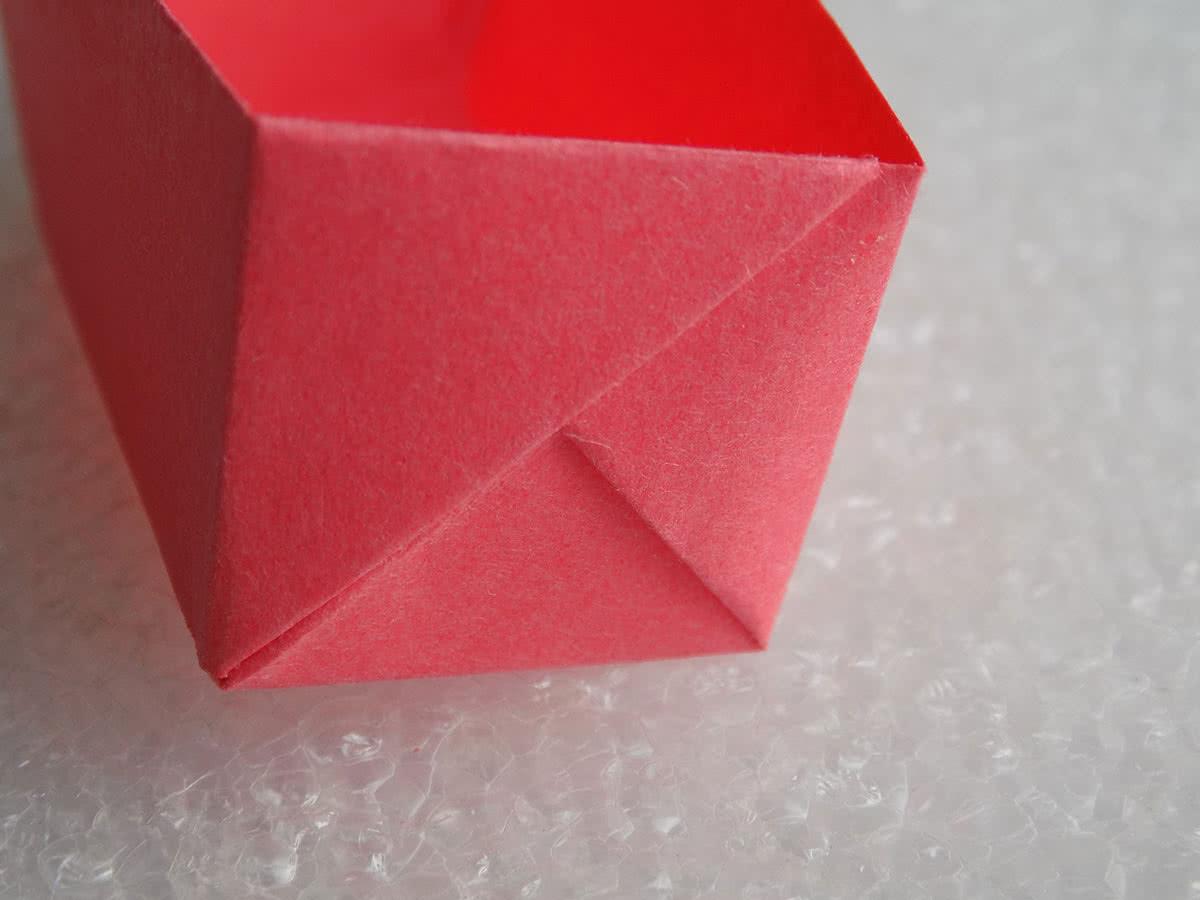 Оригами коробочка шаг 17