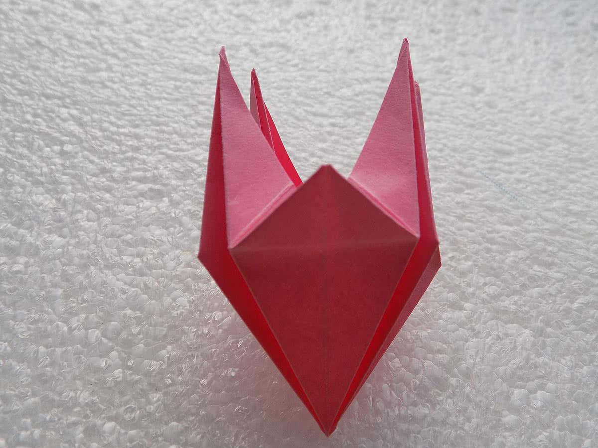 Оригами лилия шаг 15