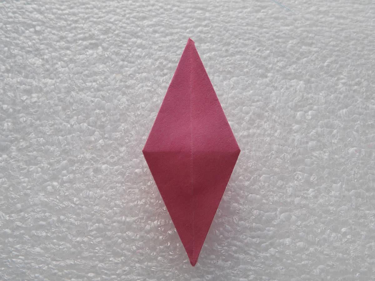 Оригами лилия шаг 18