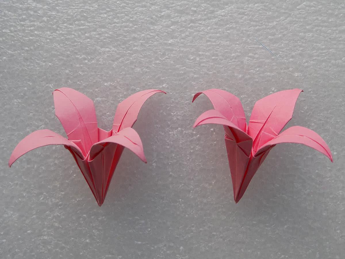 Оригами лилия шаг 23