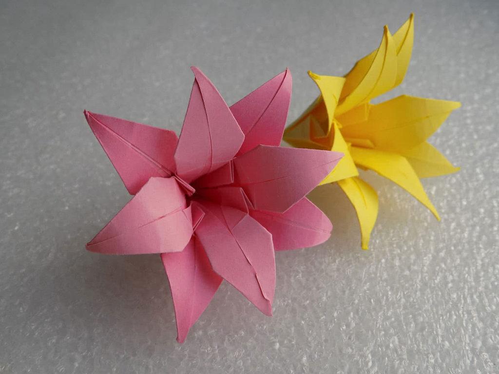 Оригами лилия шаг 26