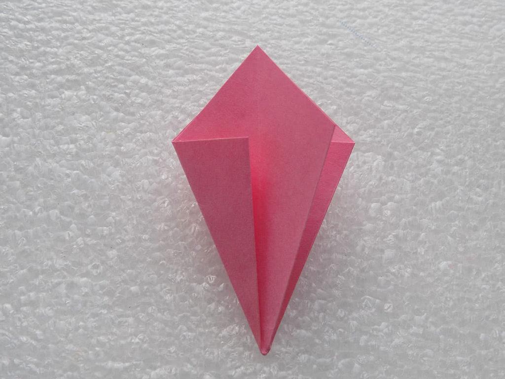 Оригами лилия шаг 7