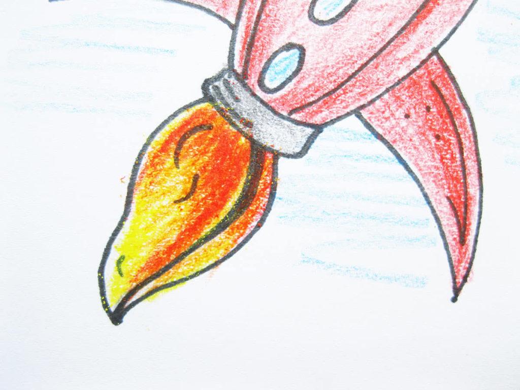 Ракета карандашом поэтапно