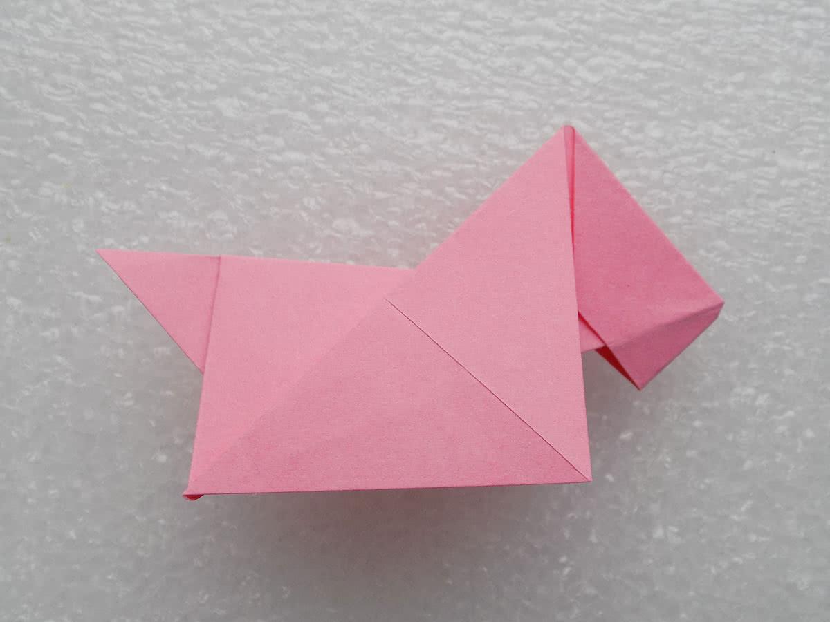 Собака оригами шаг 13