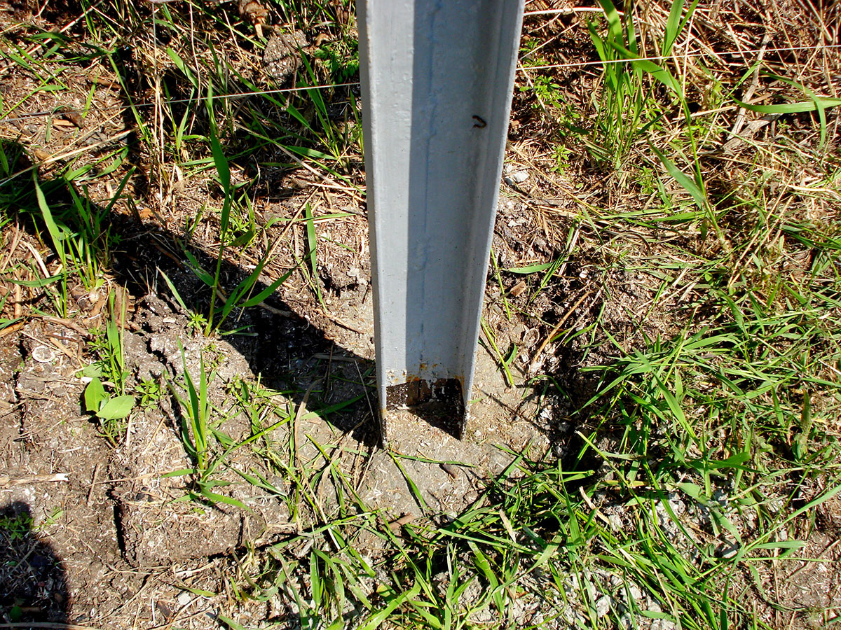 заливка бетонных столбов