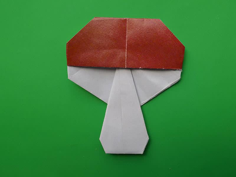Гриб оригами
