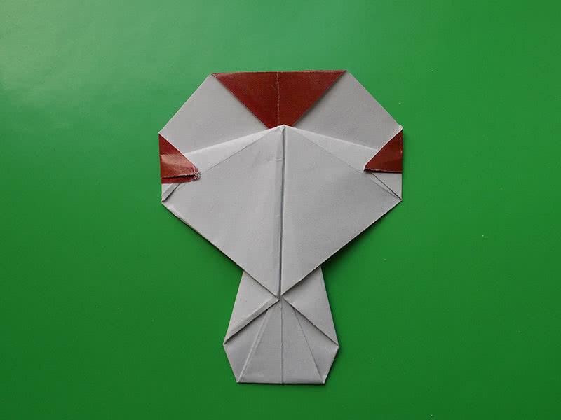 Гриб оригами из бумаги