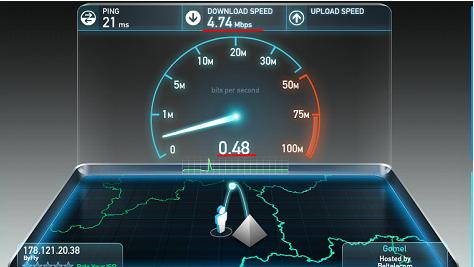 speedtest скриншот