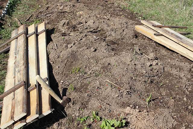 Установка садовых грядок своими руками