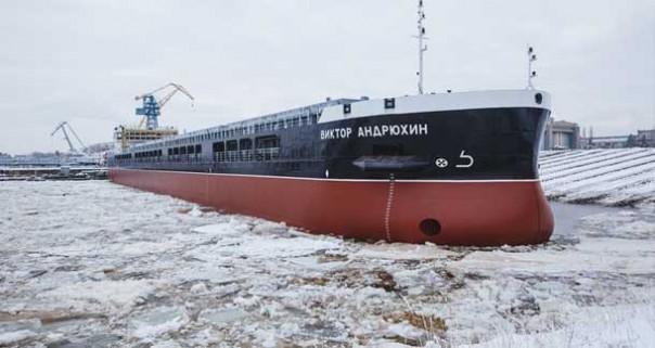 Завод «Красное Сормово» спустил на воду сухогруз проекта RSD59 «Виктор Андрюхин»