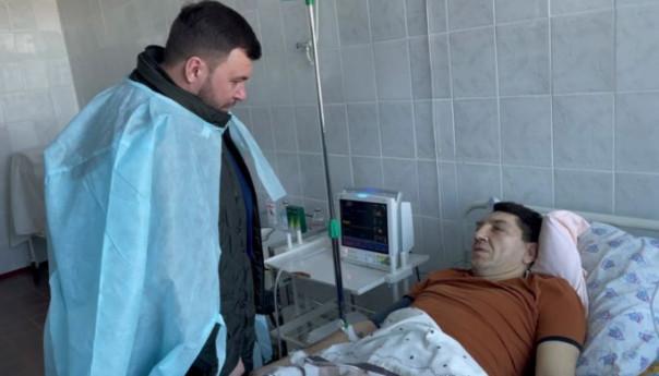 Сводка от УНМ ДНР 15.02.2021. Пушилин навестил в больнице раненного при взрыве комбата. Теракт в Горловке является провокацией эскалации конфликта
