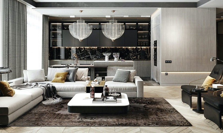Особенности ковров в современном стиле