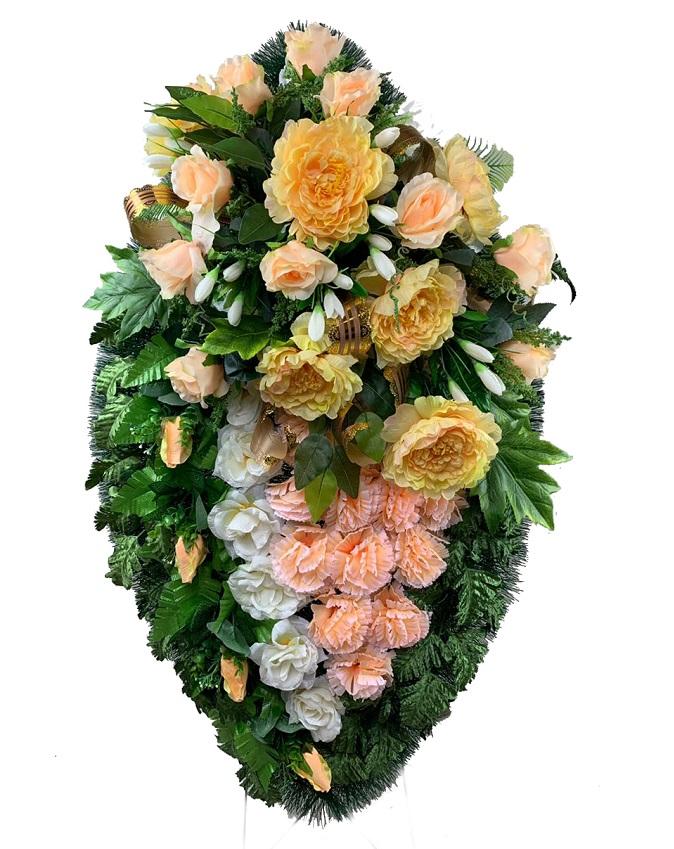 Преимущества венков из искусственных цветов